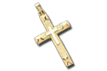 Solid Yellow  White Gold Crosses