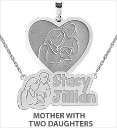 Mother with Two Daughters Pendants